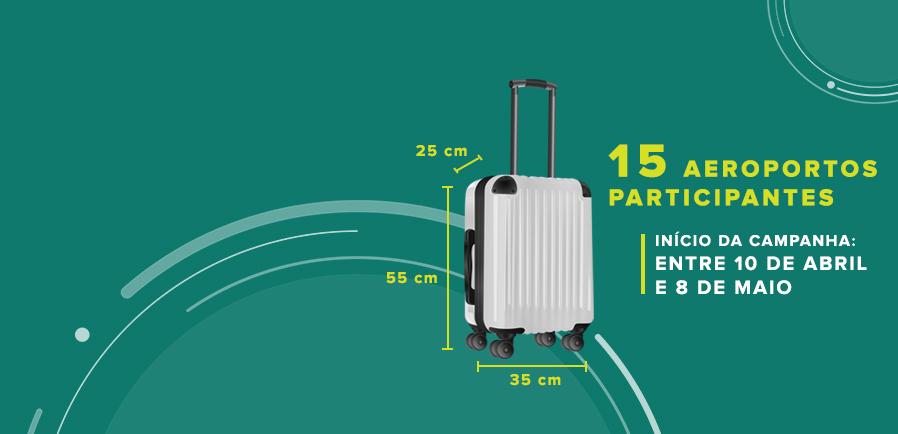 Ilustração de bagagem de mão com os dizeres